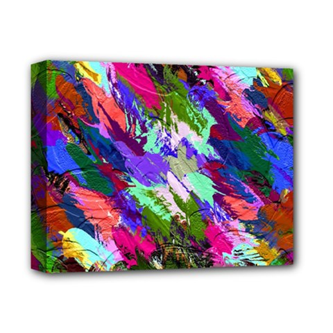 Tropical Jungle Print And Color Trends Deluxe Canvas 14  X 11  by Nexatart