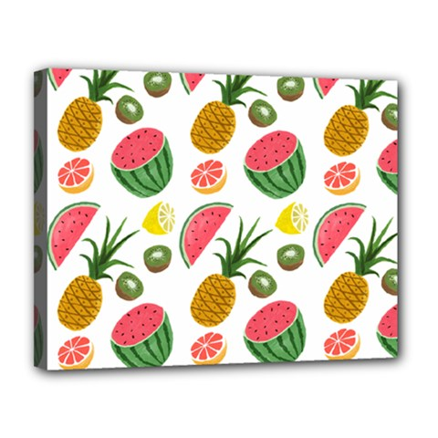 Fruits Pattern Canvas 14  X 11  by Nexatart