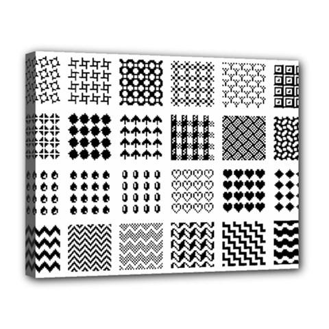 Retro Patterns Canvas 14  X 11  by Nexatart