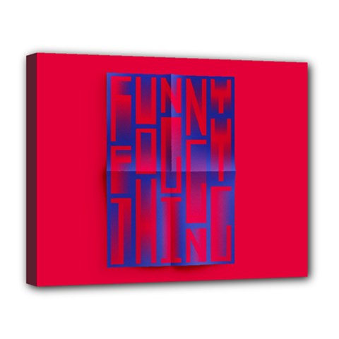 Funny Foggy Thing Canvas 14  X 11  by Nexatart