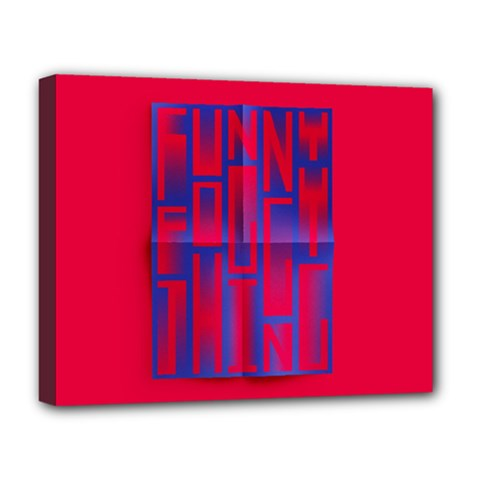 Funny Foggy Thing Deluxe Canvas 20  X 16   by Nexatart