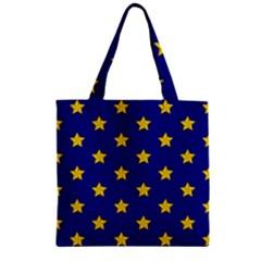 Star Pattern Zipper Grocery Tote Bag by Nexatart
