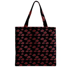 Cloud Red Brown Zipper Grocery Tote Bag by Mariart