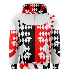 Face Mask Red Black Plaid Triangle Wave Chevron Men s Zipper Hoodie by Mariart