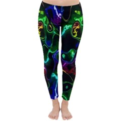 Saga Colors Rainbow Stone Blue Green Red Purple Space Classic Winter Leggings by Mariart
