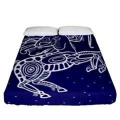 Sagitarius Zodiac Star Fitted Sheet (queen Size) by Mariart