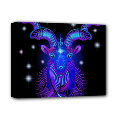 Sign Capricorn Zodiac Deluxe Canvas 14  X 11  by Mariart