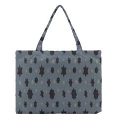 Star Space Black Grey Blue Sky Medium Tote Bag by Mariart