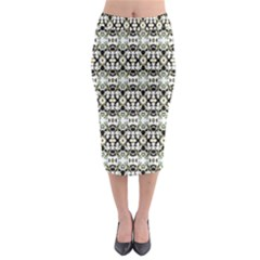 Abstract Ethnic Camouflage Midi Pencil Skirt by dflcprintsclothing