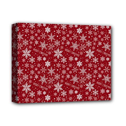 Merry Christmas Pattern Deluxe Canvas 14  X 11  by Nexatart