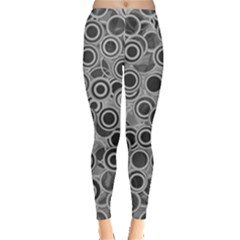 Abstract Grey End Of Day Leggings  by Ivana