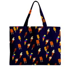 Seamless Ice Cream Pattern Zipper Mini Tote Bag by Nexatart