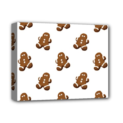 Gingerbread Seamless Pattern Deluxe Canvas 14  X 11  by Nexatart