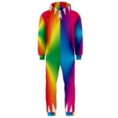 Rainbow Seal Re Imagined Hooded Jumpsuit (men)  by Nexatart
