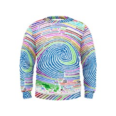 Prismatic Fingerprint Kids  Sweatshirt