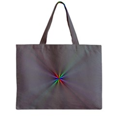 Square Rainbow Zipper Mini Tote Bag by Nexatart
