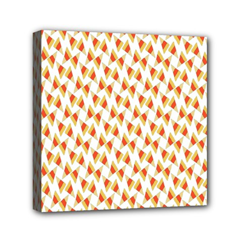 Candy Corn Seamless Pattern Mini Canvas 6  X 6  by Nexatart