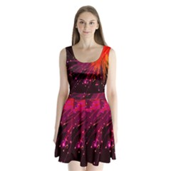 Big Bang Split Back Mini Dress  by ValentinaDesign