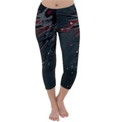 Big Bang Capri Winter Leggings  by ValentinaDesign