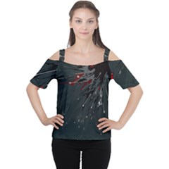 Big Bang Women s Cutout Shoulder Tee by ValentinaDesign