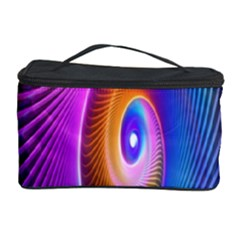 Abstract Fractal Bright Hole Wave Chevron Gold Purple Blue Green Cosmetic Storage Case by Mariart