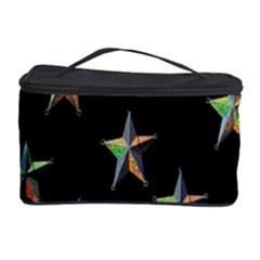Colorful Gold Star Christmas Cosmetic Storage Case by Mariart