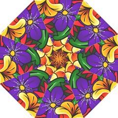 Bright Flowers Floral Sunflower Purple Orange Greeb Red Star Straight Umbrellas by Mariart