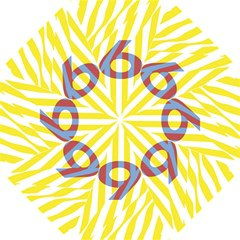 Number 9 Line Vertical Yellow Red Blue White Wae Chevron Straight Umbrellas by Mariart