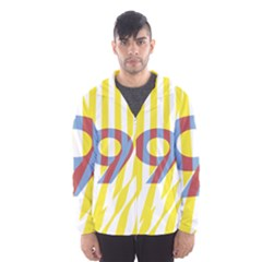 Number 9 Line Vertical Yellow Red Blue White Wae Chevron Hooded Wind Breaker (men) by Mariart