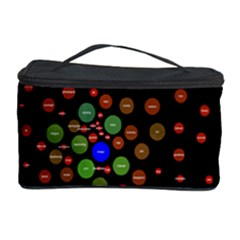 Molecular Chemistry Of Mathematical Physics Small Army Circle Cosmetic Storage Case by Mariart