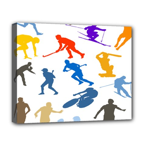 Sport Player Playing Deluxe Canvas 20  X 16   by Mariart