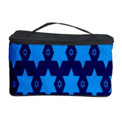 Star Blue Space Wave Chevron Sky Cosmetic Storage Case by Mariart