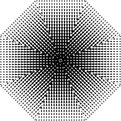 Triangle Black White Wave Chevron Folding Umbrellas by Mariart