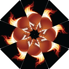 Super Football American Sport Fire Hook Handle Umbrellas (small) by Mariart
