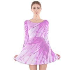 Big Bang Long Sleeve Velvet Skater Dress by ValentinaDesign