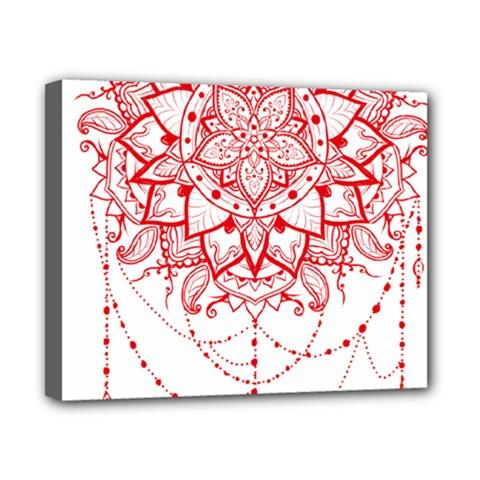 Mandala Pretty Design Pattern Canvas 10  X 8  by Nexatart