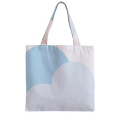 Cloud Sky Blue Decorative Symbol Zipper Grocery Tote Bag by Nexatart
