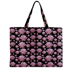 Lotus Medium Tote Bag by ValentinaDesign
