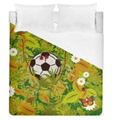 Ball On Forest Floor Duvet Cover (queen Size) by linceazul