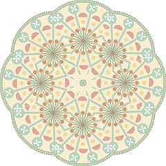 Blue Circle Ornaments Folding Umbrellas by Nexatart