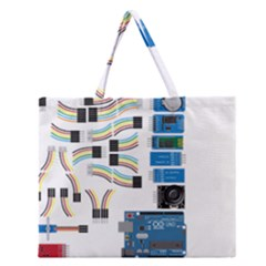 Arduino Arduino Uno Electronic Zipper Large Tote Bag by Nexatart