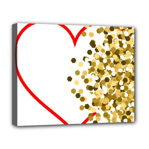 Heart Transparent Background Love Deluxe Canvas 20  X 16   by Nexatart