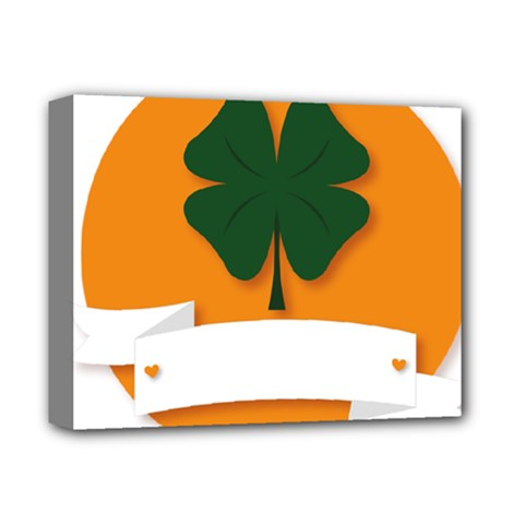 St Patricks Day Ireland Clover Deluxe Canvas 14  X 11  by Nexatart