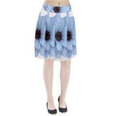 Daisy Flower Floral Plant Summer Pleated Skirt by Nexatart