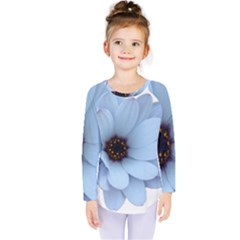 Daisy Flower Floral Plant Summer Kids  Long Sleeve Tee by Nexatart