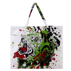 Do It Sport Crossfit Fitness Zipper Large Tote Bag by Nexatart