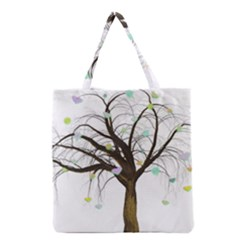 Tree Fantasy Magic Hearts Flowers Grocery Tote Bag by Nexatart