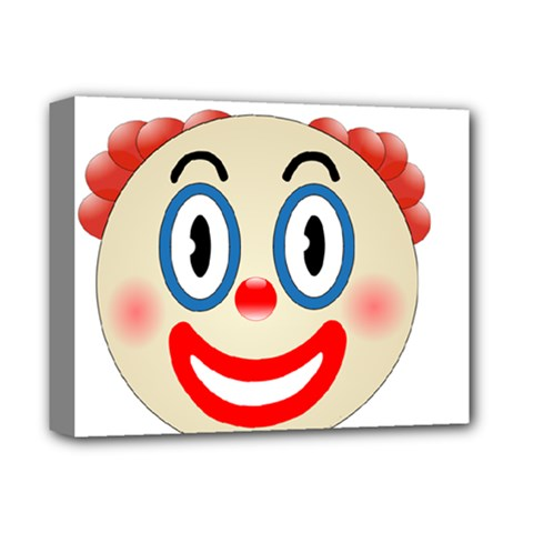 Clown Funny Make Up Whatsapp Deluxe Canvas 14  X 11  by Nexatart