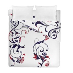 Scroll Border Swirls Abstract Duvet Cover Double Side (full/ Double Size) by Nexatart