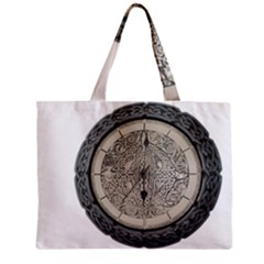 Clock Celtic Knot Time Celtic Knot Zipper Mini Tote Bag by Nexatart